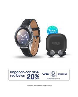 Galaxy Watch3 41mm - Plateado + Buds Pro