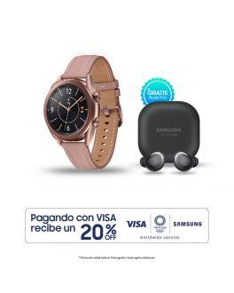 Galaxy Watch3 41mm - Dorado + Buds Pro