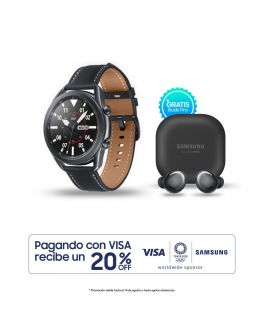 Galaxy Watch3 45mm - Negro + Buds Pro