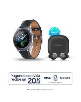 Galaxy Watch3 45mm - Plateado + Buds Pro