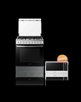 Cocina a Gas con Quemador de Triple Potencia 5.2 cu.ft Puerta Black Smog +  Microondas Gratis