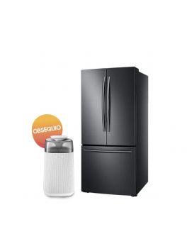 Samsung Refrigerador french door 22ft Negro Acero + Purificador Gratis